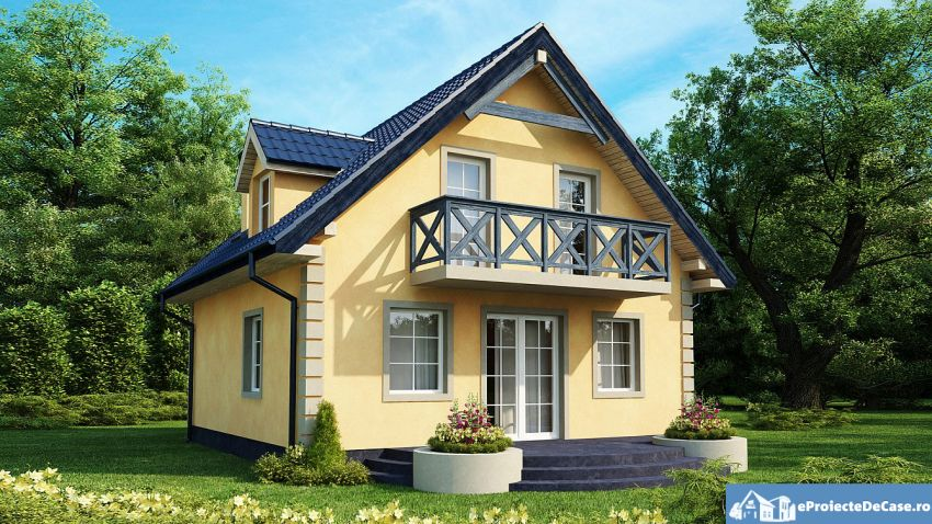 case mici cu lucarne Small dormer house plans 6