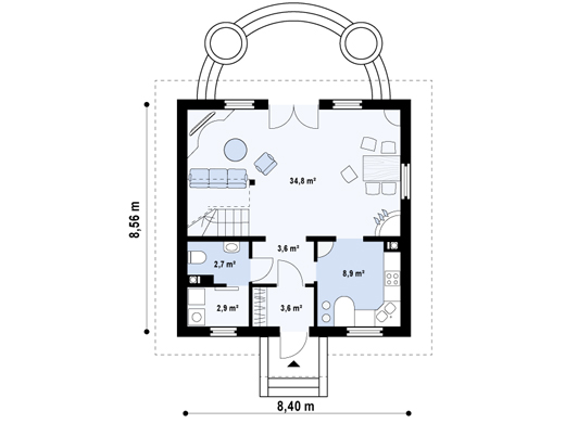 case mici cu lucarne Small dormer house plans 7
