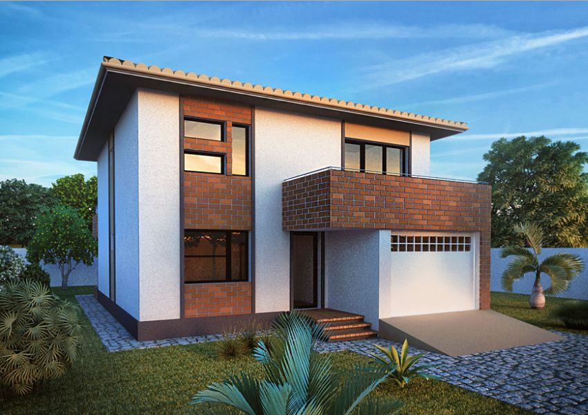 Modern two story houses