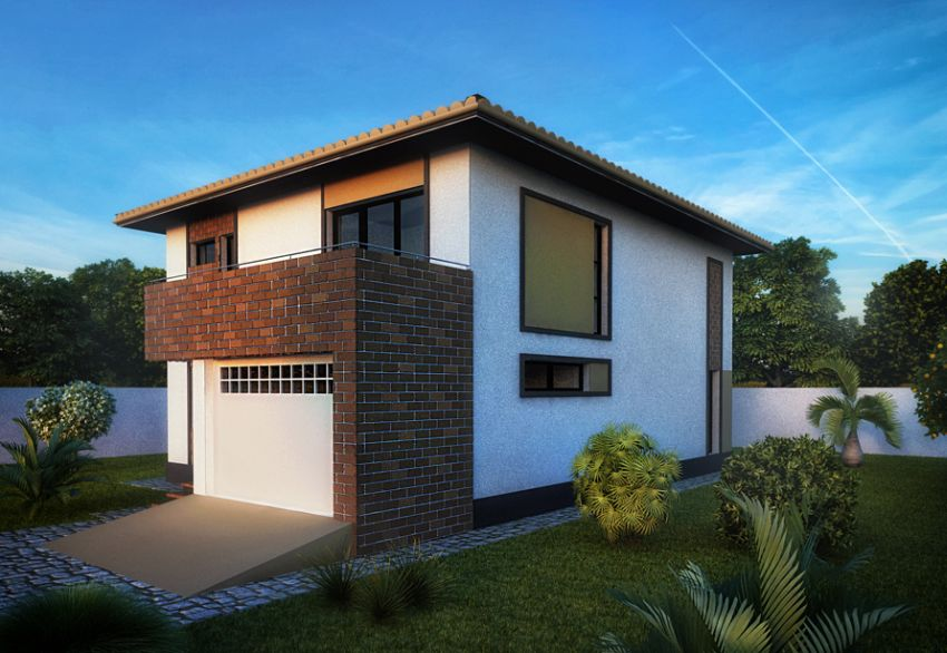 case moderne cu etaj Modern two story houses 11