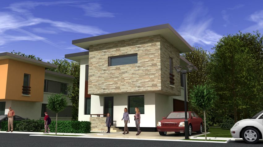 case moderne cu etaj Modern two story houses 6