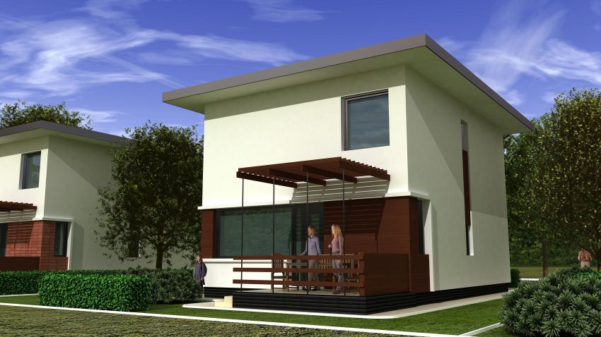 case moderne cu etaj Modern two story houses 7