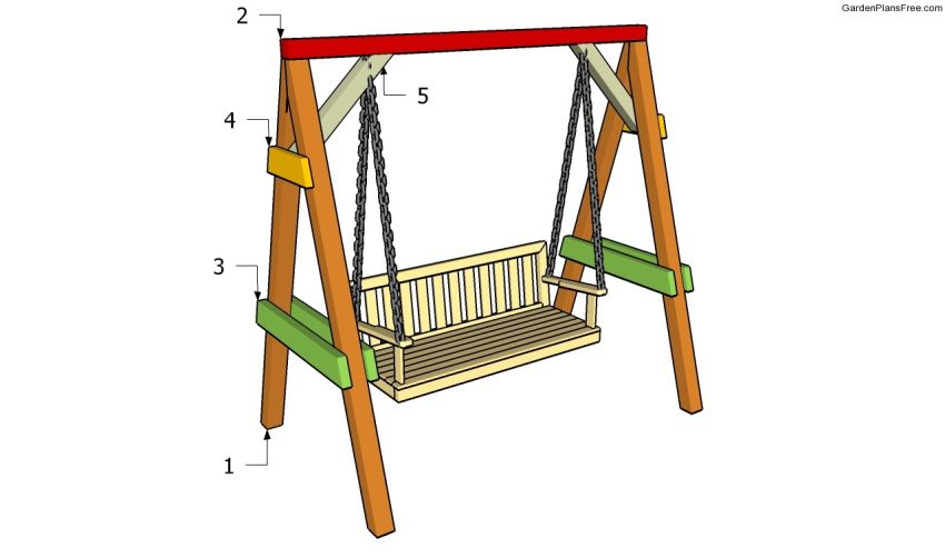 How to build a garden swing seat