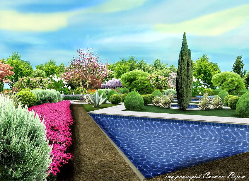 gradini in stil mixt Mixed style gardens 3
