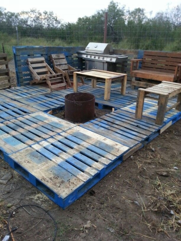 15 Wood Pallet Deck Ideas Houz Buzz