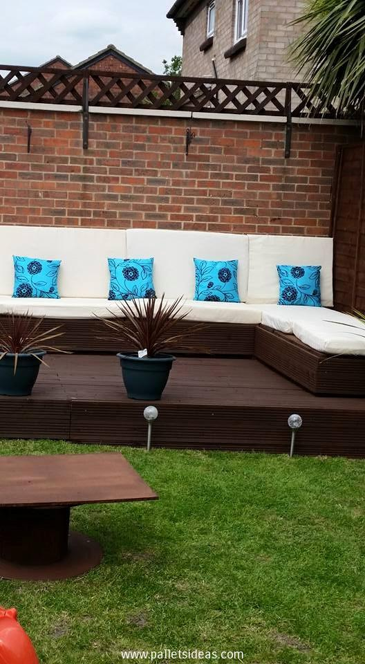 terasa din paleti Wood pallet deck ideas 7