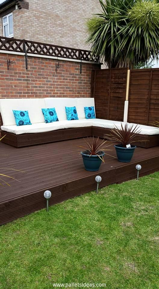 terasa din paleti Wood pallet deck ideas 8