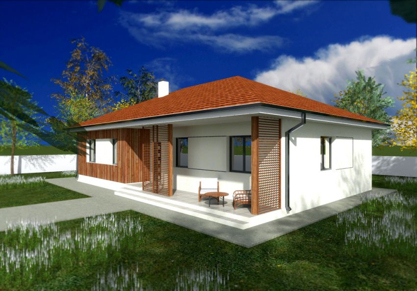Awesome Single Floor Houses With Exterior Wood Finishes Houz Buzz Largest Home Design Picture Inspirations Pitcheantrous