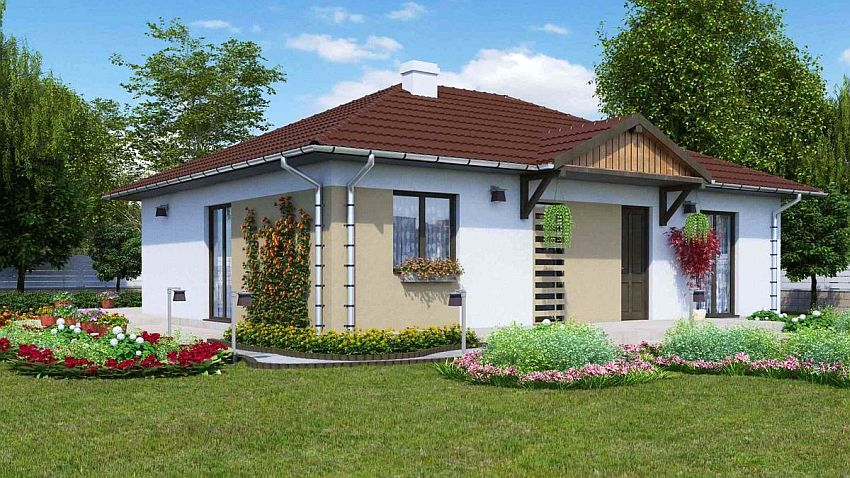 case cu doua dormitoare Two bedroom single story house plans 1