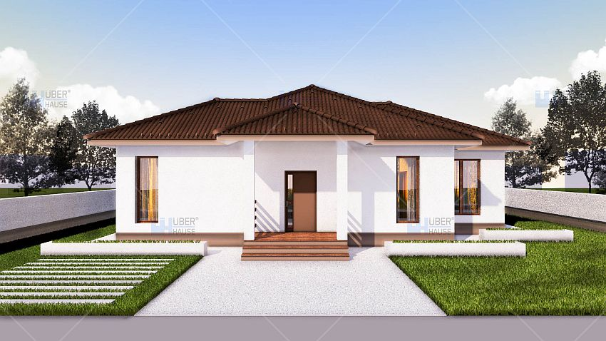Case Cu Doua Dormitoare Two Bedroom Single Story House Plans 4