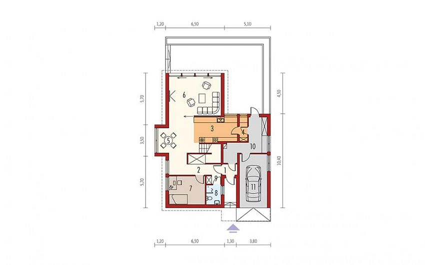 case cu etaj si garaj integrat Two story flat roof houses with garage 12