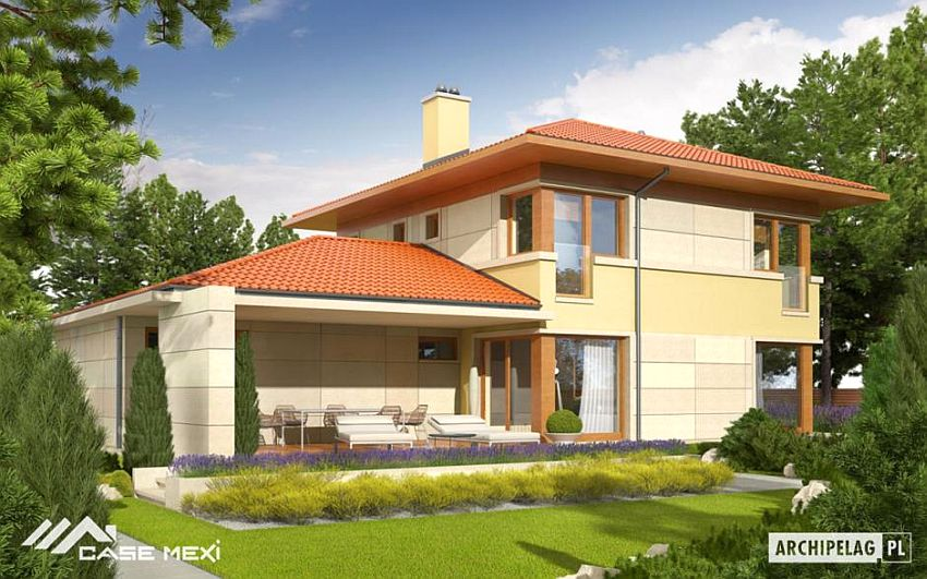 Two Story Flat Roof Houses With Garage Houz Buzz