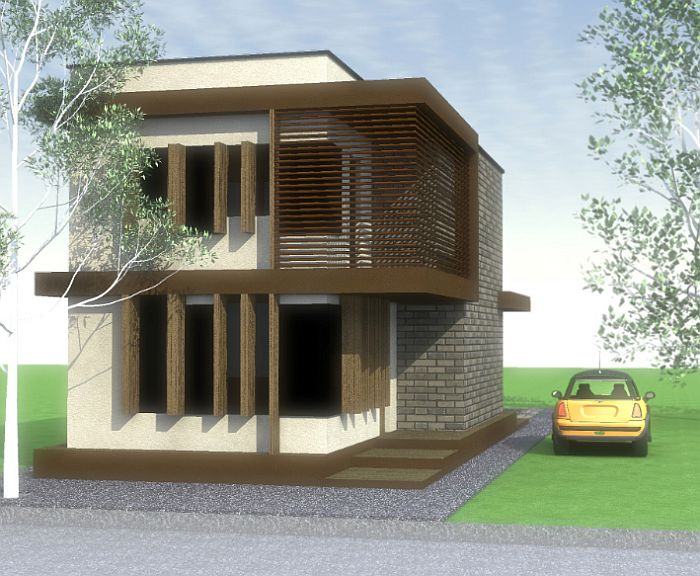 Cheap flat roof house plans