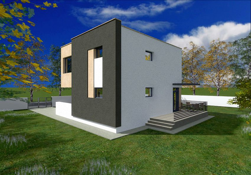 case ieftine cu etaj Cheap flat roof house plans 10
