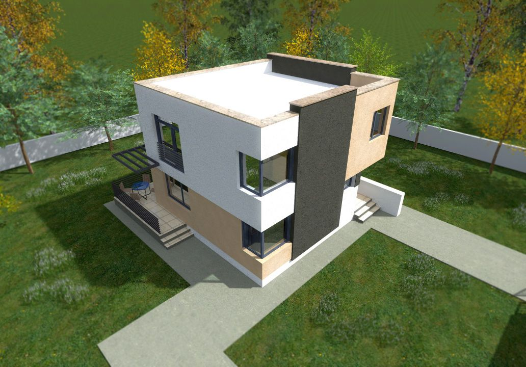 Case ieftine cu etaj 3 proiecte economice case practice for Flat roof house plans