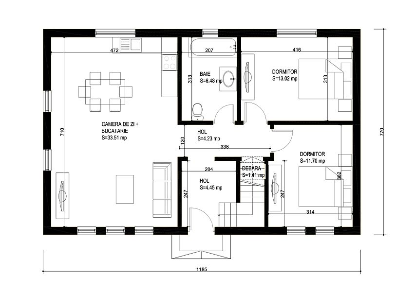 case medii pe doua nivele Medium sized two story house plans 21
