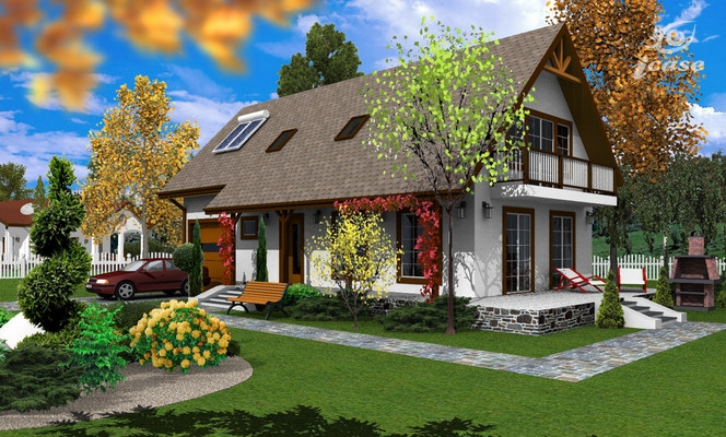 case medii pe doua nivele Medium sized two story house plans 5