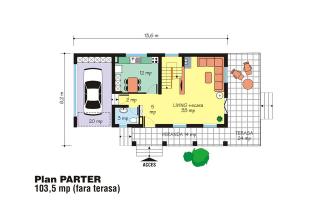 case medii pe doua nivele Medium sized two story house plans 7