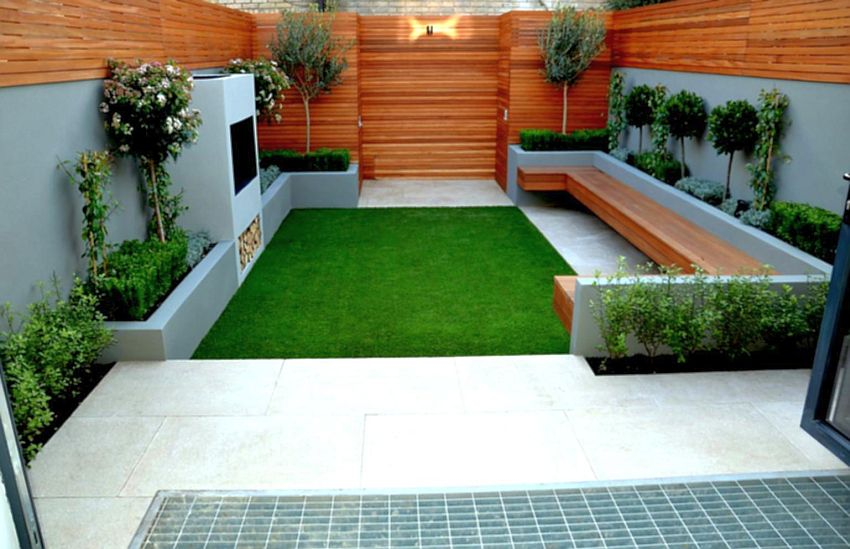 Decorating a 200 square meter garden houz buzz - Small backyard landscape designs ...