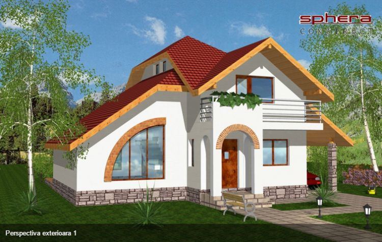 proiecte de case cu semineu House plans with fireplaces 11