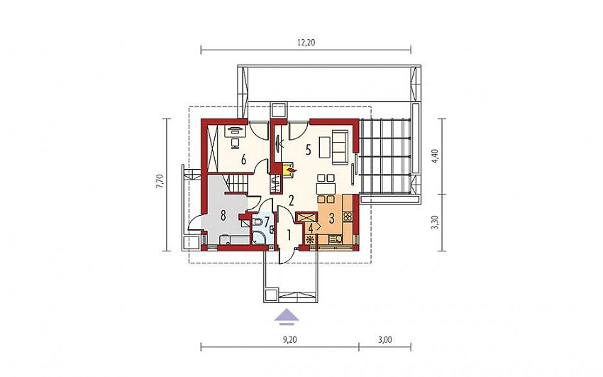 House plans with attic under 120 square meters houz buzz - Case study home designs for apartments undersquare meters ...
