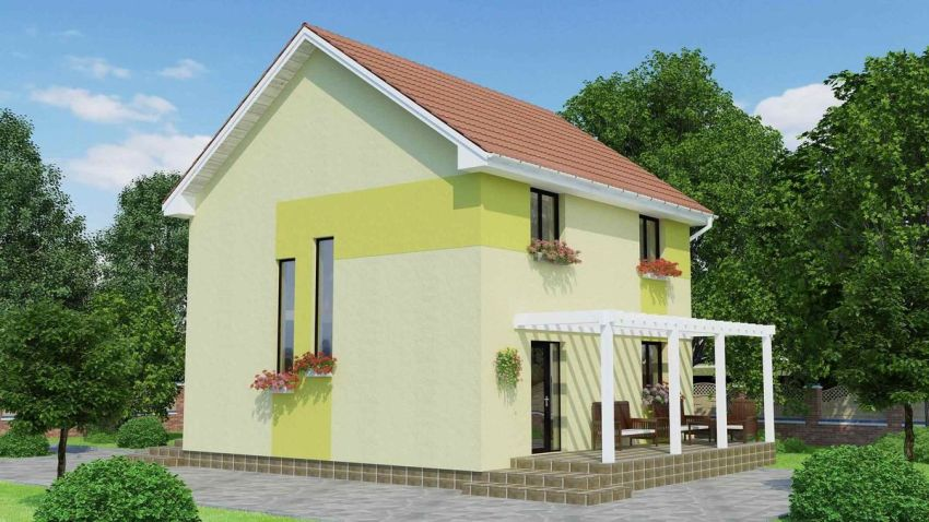 House plans with attic under 120 square meters houz buzz - Houses atticsquare meters ...