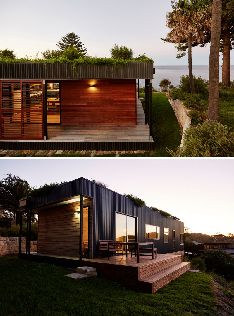 The green roof prefabricated house aesthetic and for Prefab roof