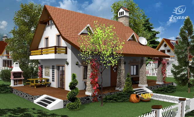 Three bedroom house plans family oriented houz buzz for Modele case mici cu mansarda