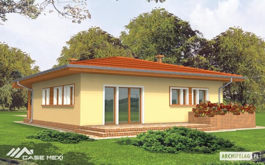 case pe un singur nivel sub 100 de mp Single floor houses under 100 square meters 5