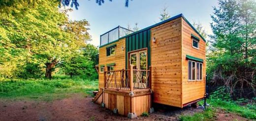 casuta cu terasa pe acoperis the roof deck tiny house   3