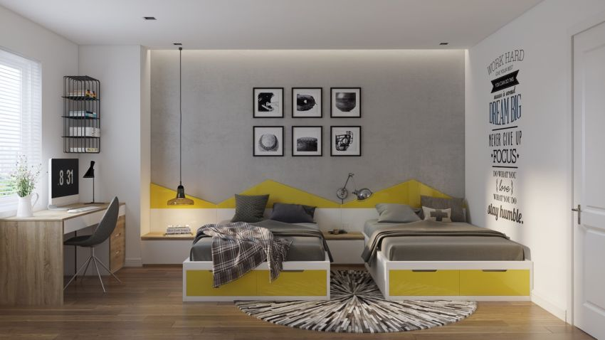 dormitoare in gri grey bedrooms 11