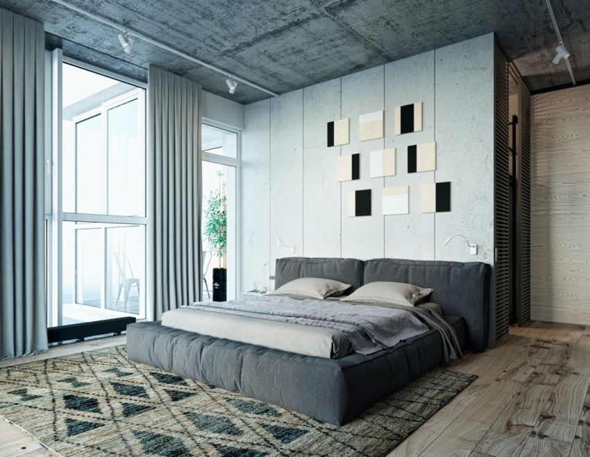 dormitoare in gri grey bedrooms 7