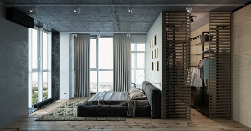 dormitoare in gri grey bedrooms 8