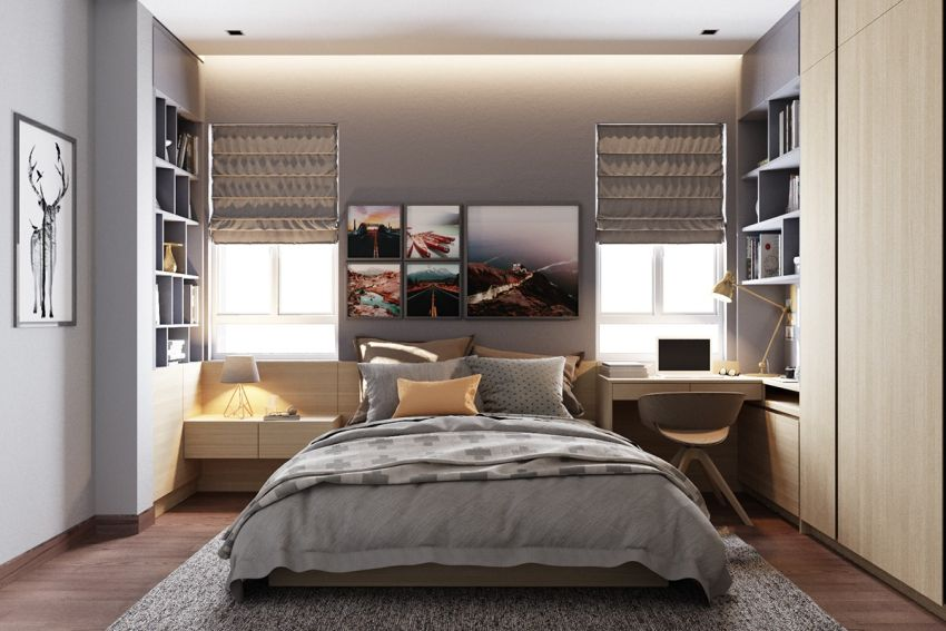 dormitoare in gri grey bedrooms 9