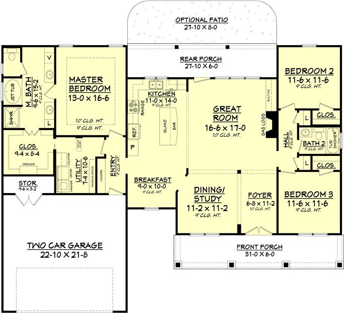 house plans with high ceilings