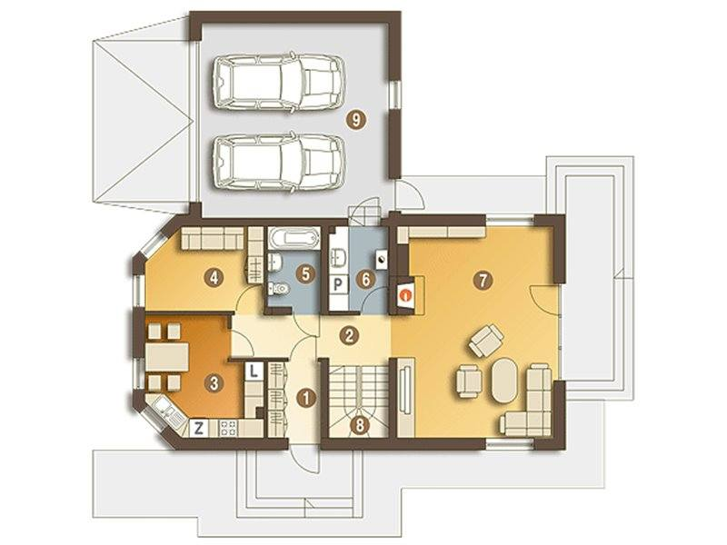 loft houses with inside staircase