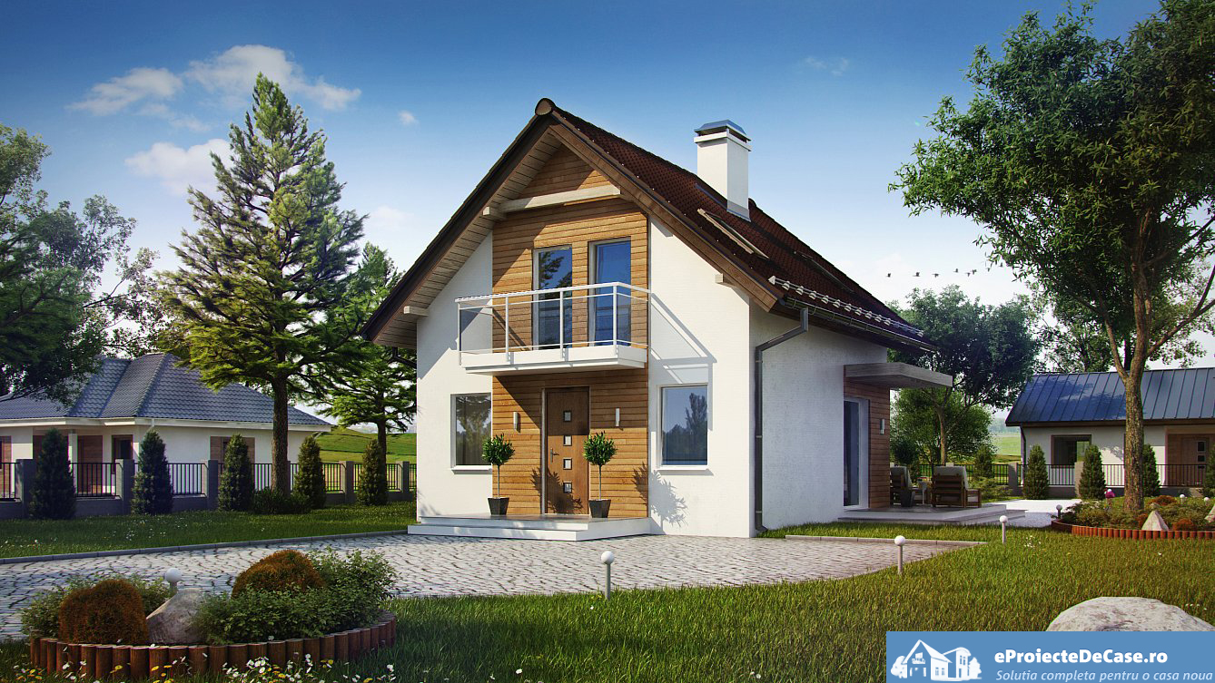 Small house plans with lofts accessible and suitable for for Modele case mici cu mansarda
