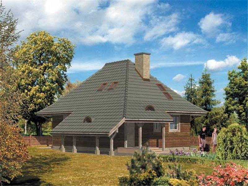 hip roof houses with attic