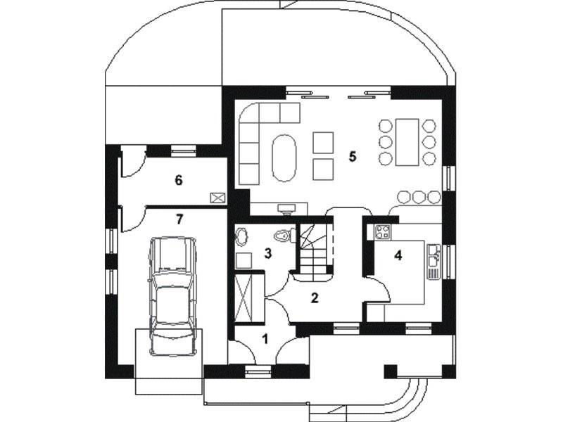 modern 4-bedroom, 3-bathroom house plans