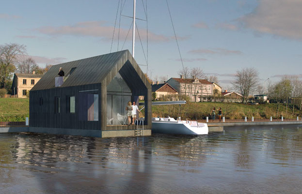 how to build a floating house